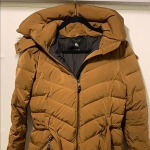 Used: Zara Brown Down Fill Jacket Size Small